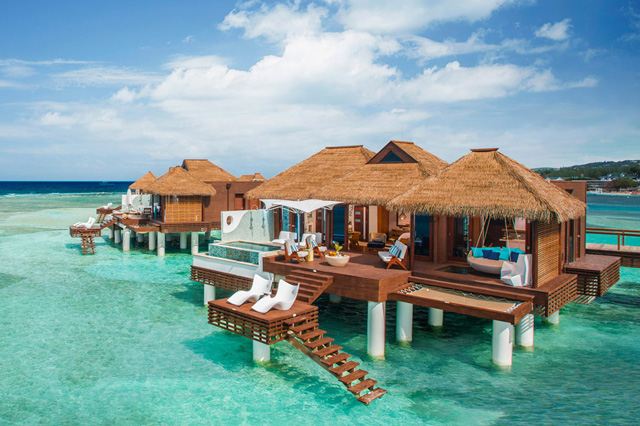Jamaica - A romantic honeymoon with butler service at Mexico's first overwater bungalows