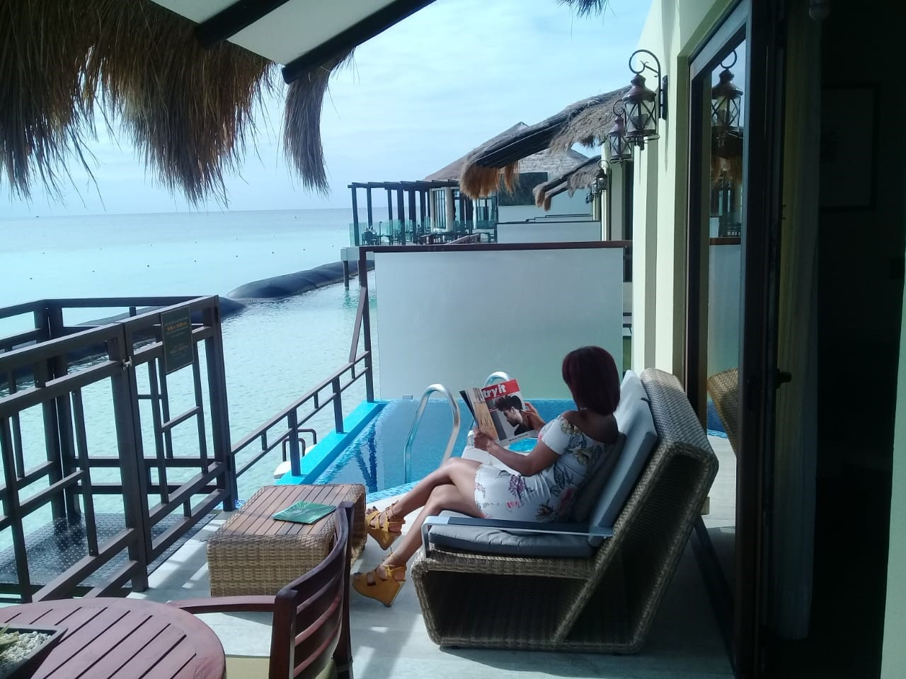 Silvia Lounging - A romantic honeymoon with butler service at Mexico's first overwater bungalows